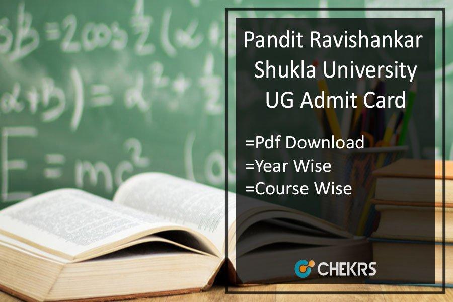 Pandit Ravishankar Shukla University Raipur Admit Card - Pt Ravishankar Univ BA B.SC B.COM Roll No