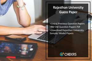 Rajasthan University Guess Paper- Uniraj Previous Year Question Papers