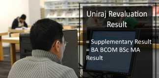 Uniraj Revaluation Result - RU BA B.SC B.COM MA Supplementary Results