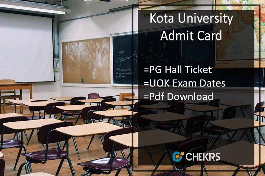 Kota University Admit Card - uok.ac.in MA MSC MCOM Previous/ Final