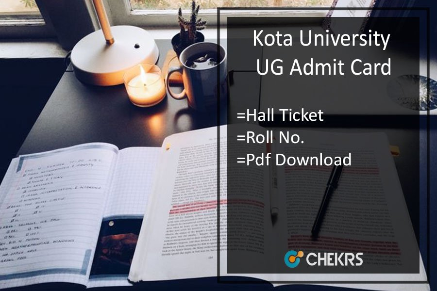 Kota University Admit Card - BA BSC BCOM 1st-2nd-3rd Year Hall Ticket