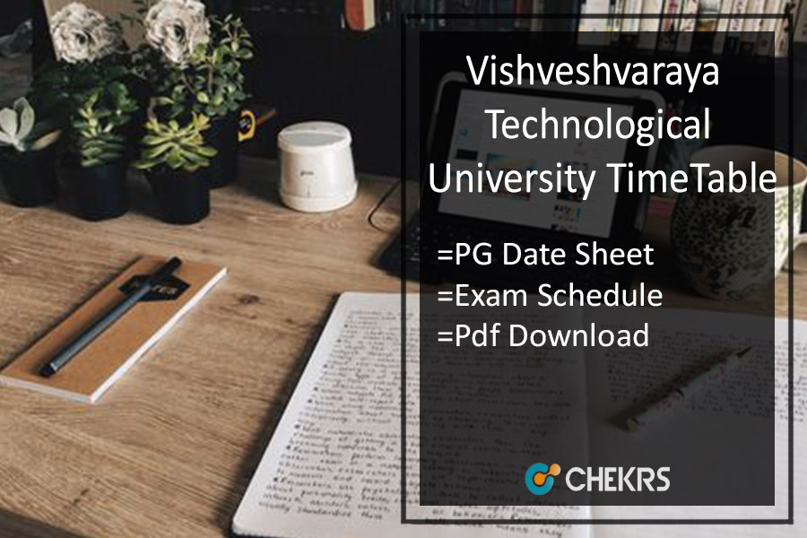 Vishveshvaraya Technological University Belagavi Time Table M.Tech MCA MBA