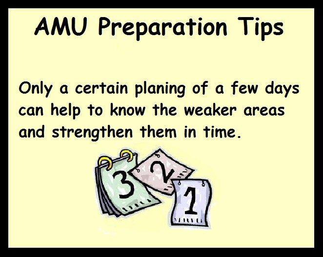 AMU Preparation Tips