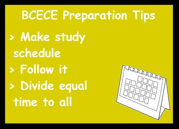 BCECE Preparation Tips- Schedule
