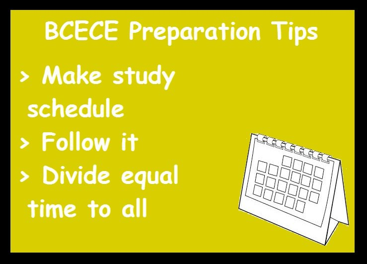BCECE Preparation Tips- Schedule
