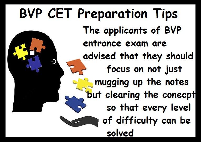 BVP CET Preparation Tips-Concepts clear