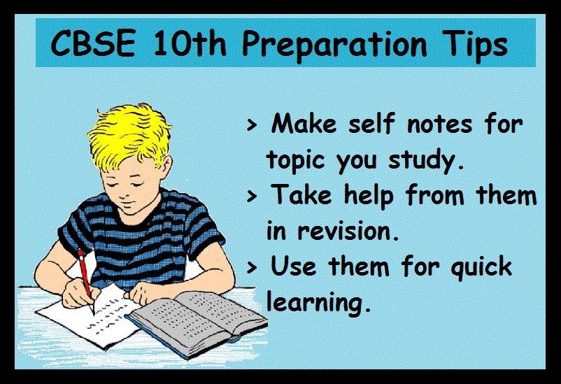 CBSE 10th Board Preparation Tips- Self Notes