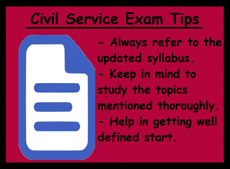 Civil Service Exam Preparation Tips-Syallbus