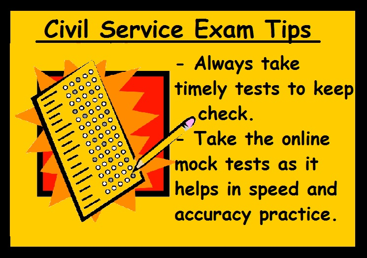Civil Service Exam Preparation Tips-Take tests