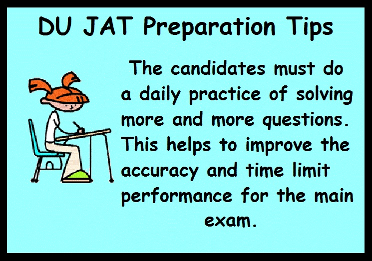 DU JAT Preparation Tips- Practice Daily