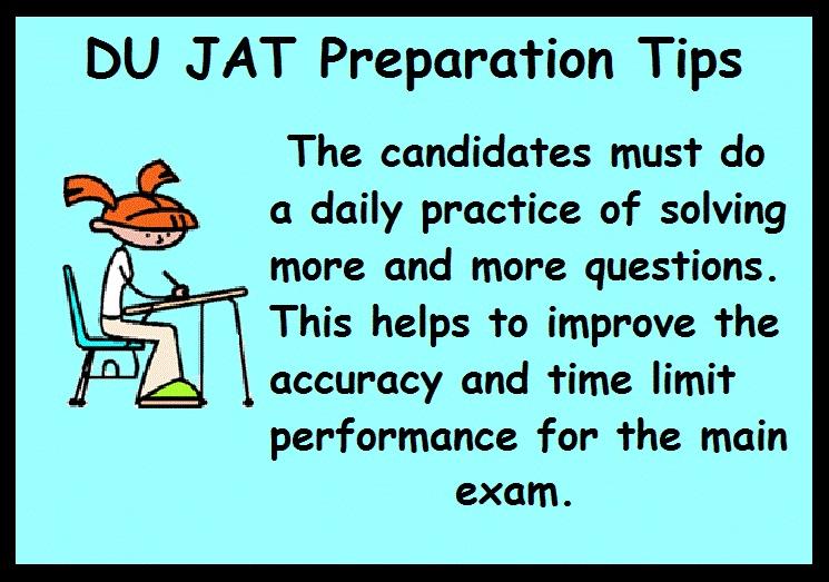 DU JAT Preparation Tips- Practice Daily