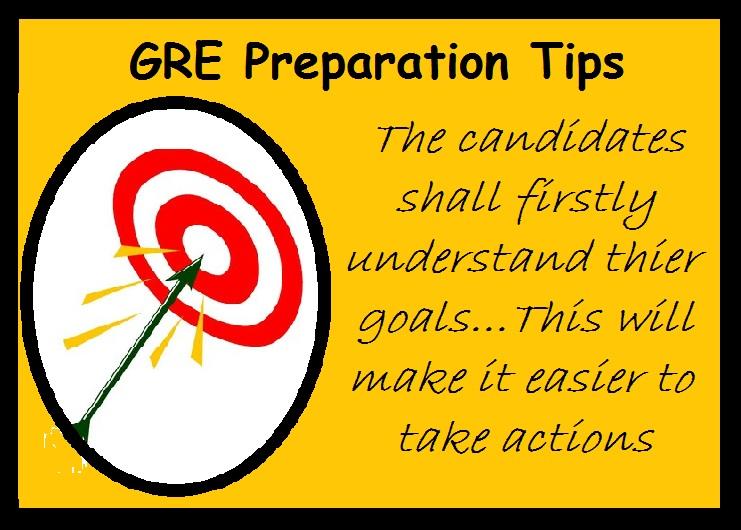 GRE Preparation Tips-Understand Goal