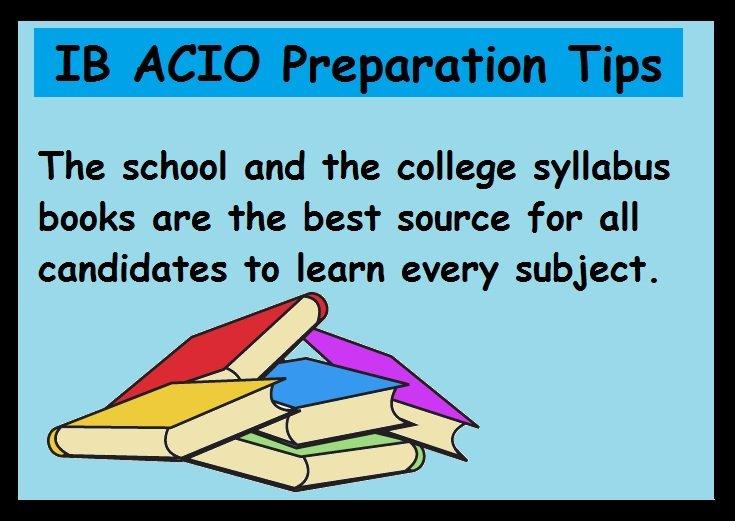 IB ACIO Preparation Tips- Books