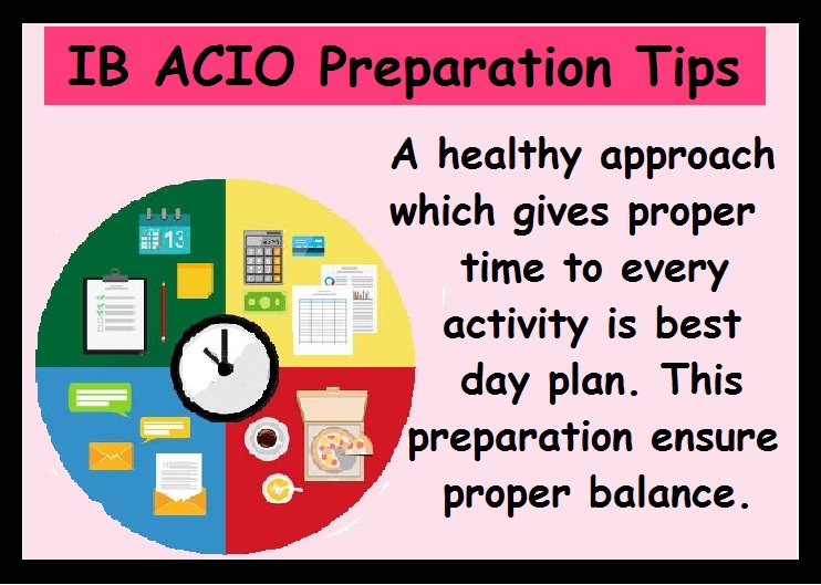 IB ACIO Preparation Tips-Healthy Apporach