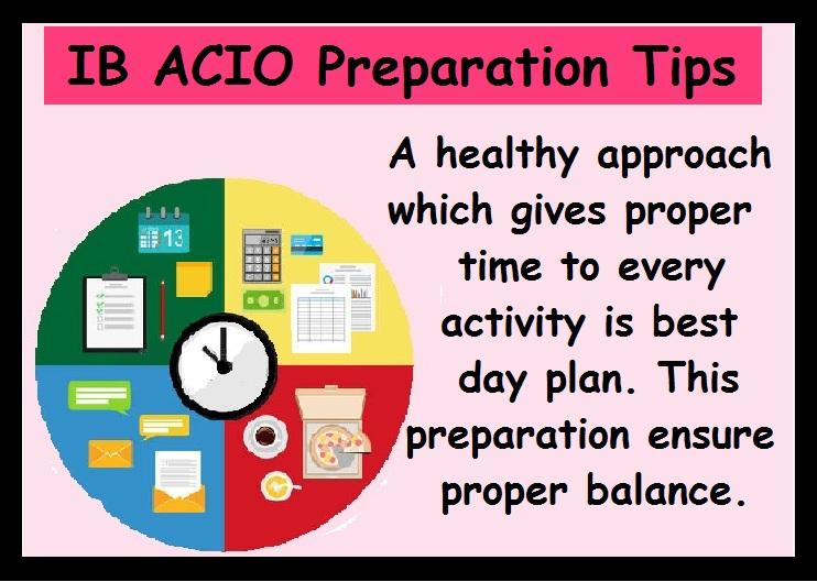 IB ACIO Preparation Tips-Healthy Apporach