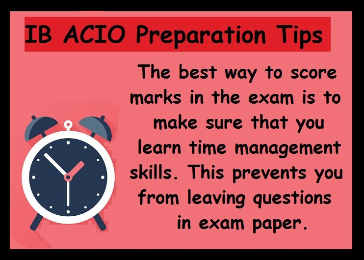 IB ACIO Preparation Tips- Time management