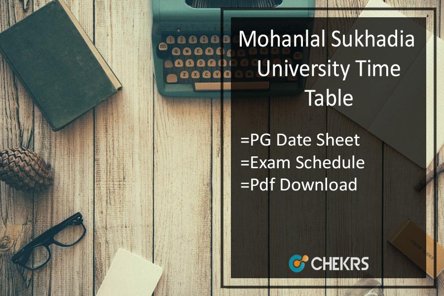 MLSU Exam Time Table - MA MSc MCom Previous Final Date Sheet
