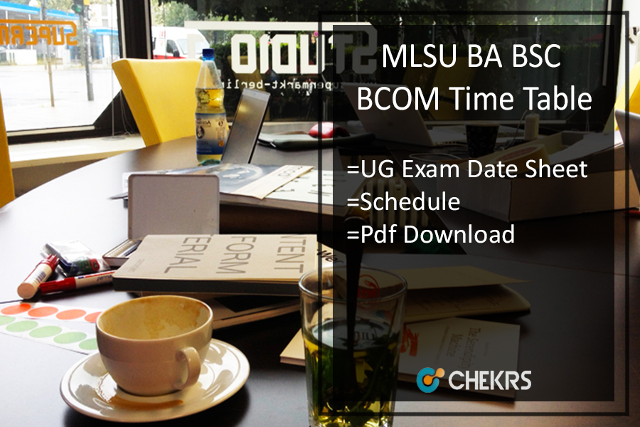 Mohanlal Sukhadia University Udaipur BA B.SC B.Com Time Table - first second 3rd Year Exam Date Sheet