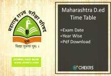 Maharashtra D.Ed Time Table - MSCE Pune Ded Exam Date