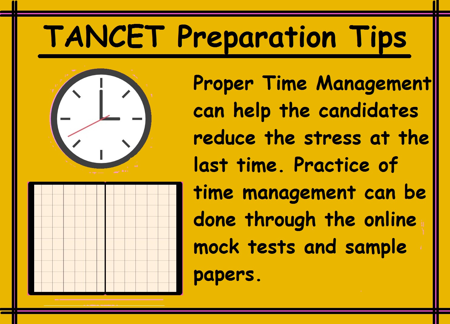 TANCET Preparation Tips- Manage Time