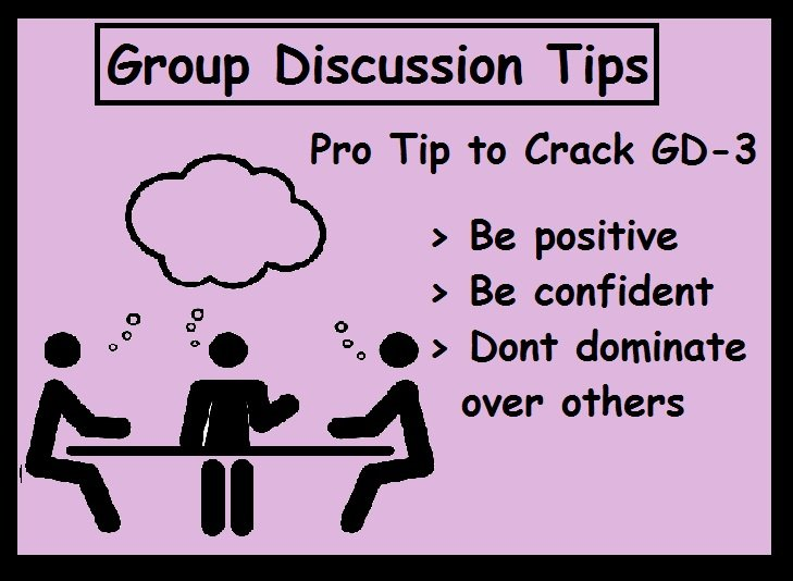 Tips for Group Discussion-Be positive