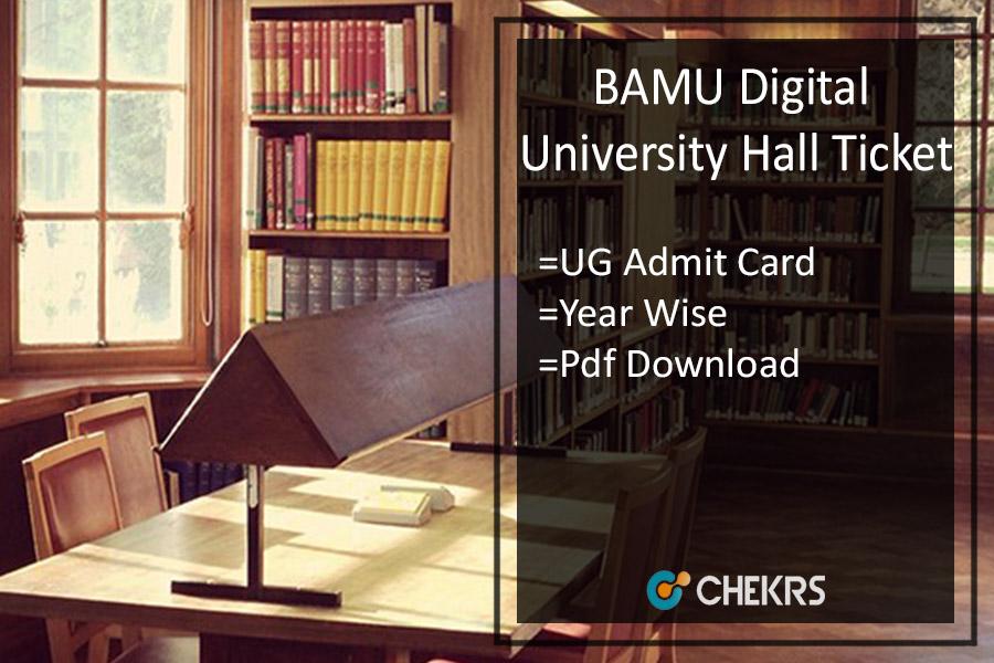 BAMU Hall Ticket - Digital University BA BSc BCom March Admit Card