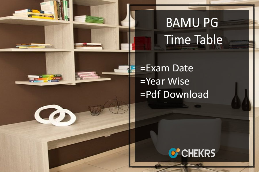 BAMU Time Table - Digital University MA MSC MCom Exam Date