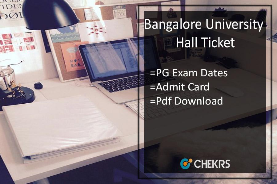 Bangalore University Hall Ticket - MA MSc MCom Admit Card