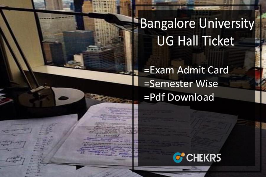 Bangalore University Hall Ticket - BA BSc BCom Admit Card Download