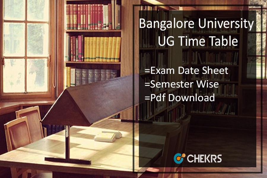 Bangalore University UG Time Table - BA BSc BCom BCA Exam Date Sheet