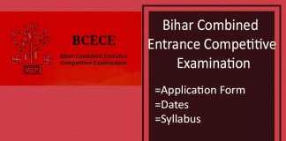BCECE : Application Form, Exam Date, Syllabus & Pattern