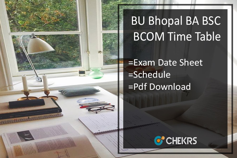 BU Bhopal BA B.SC B.Com Time Table - Barkatullah 1st-3rd-5th Sem Exam Date