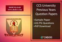 CCS University Previous Year Question Paper- Sample/ Model Paper