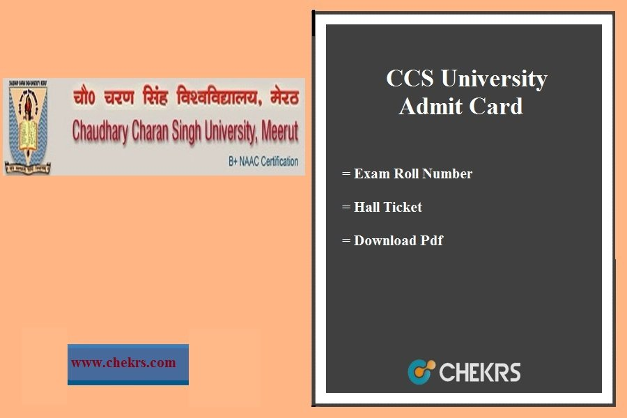 CCS University Admit Card- BA BSC BCOM BCA 1st-2nd-3rd Year