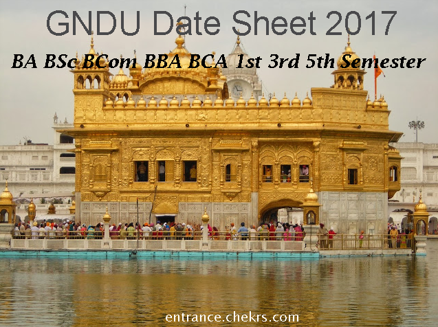 GNDU Date Sheet 2019 - BA BSc BCom BBA BCA 1st 2nd 3rd 4th