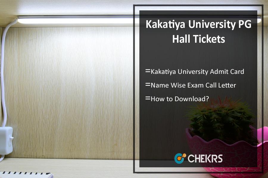 Kakatiya University PG Hall Tickets - MA MSc MCom Admit Card
