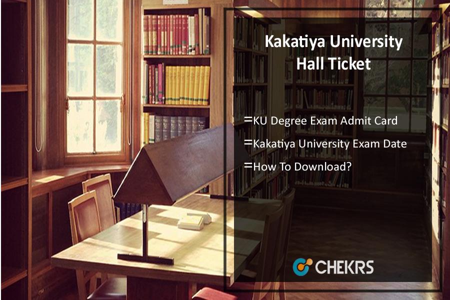 Kakatiya University Hall Ticket - KU Degree Exam Admit Card