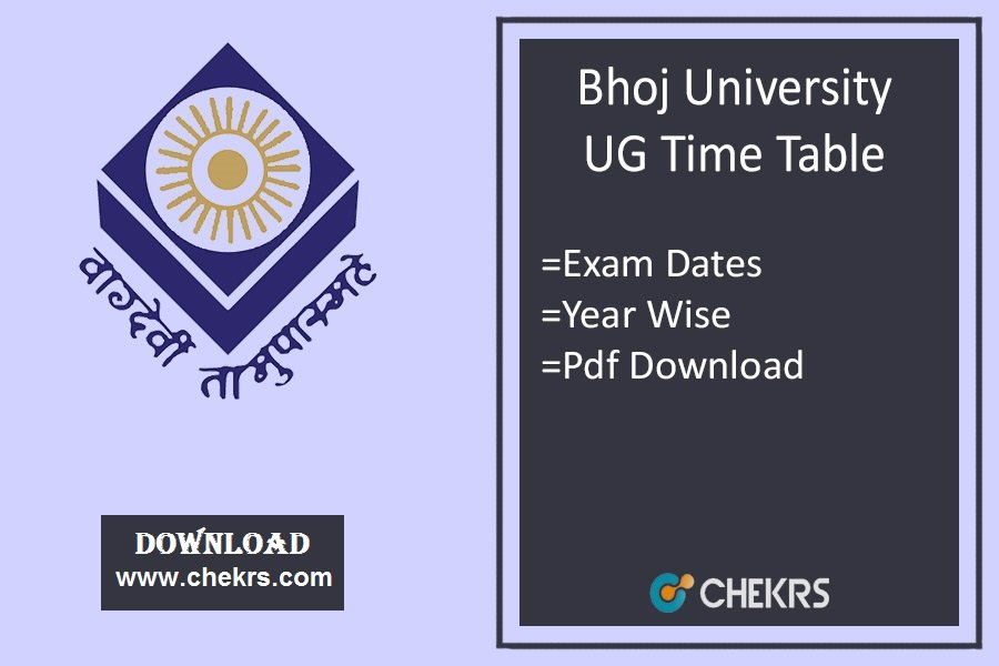 Bhoj University Time Table -18, MPBOU BA BSc BCom Exam Date
