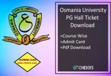 OU PG Hall Ticket Download - Osmania University Admit Card