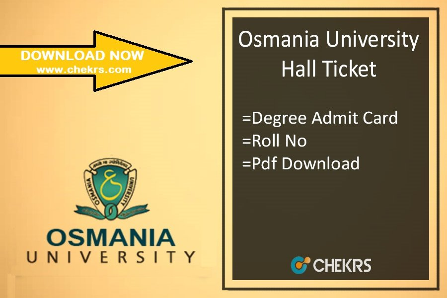 Osmania University Hall Ticket - OU Degree Admit Card Download
