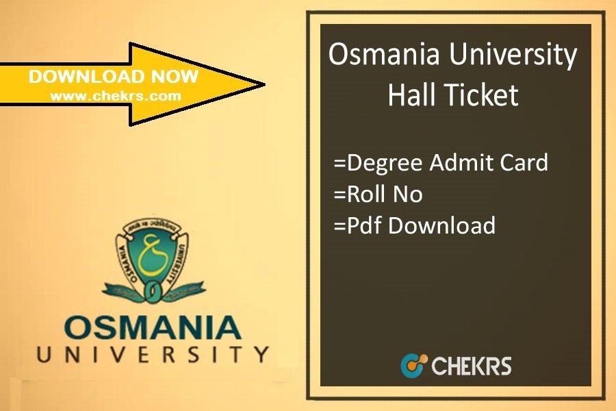 Osmania University Hall Ticket - OU Degree Admit Card Download