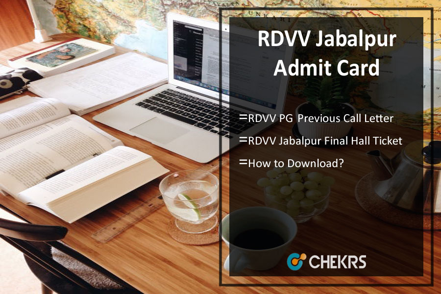 RDVV Jabalpur Admit Card - MA MSc MCom Previous/ Final Hall Ticket