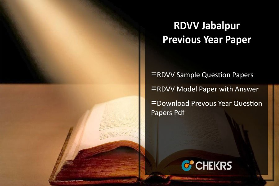 RDVV Previous Year Paper- Model/ Sample Question Papers