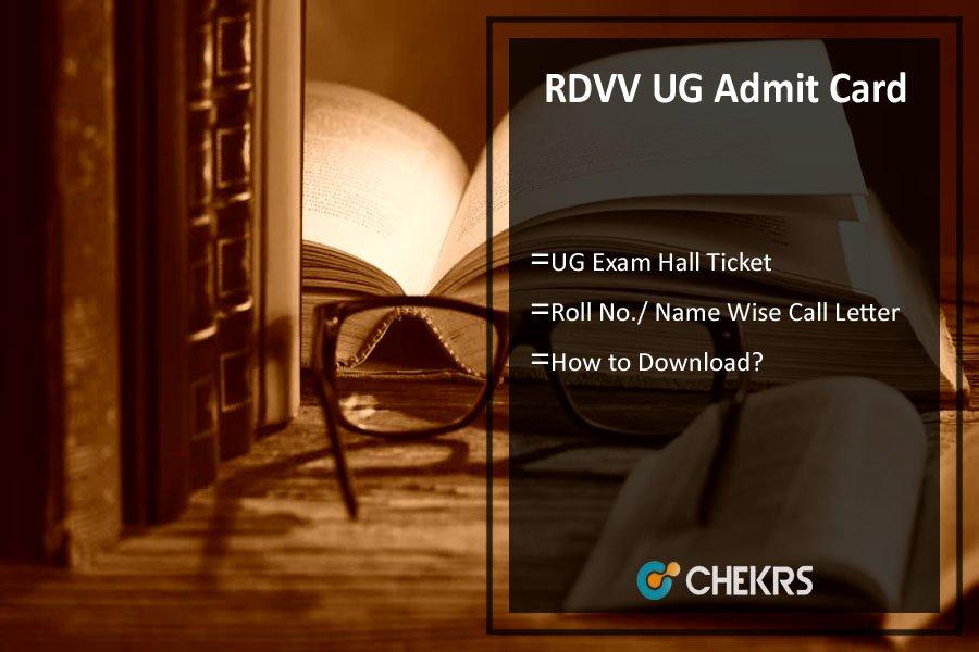 RDVV Admit Card - BA BSc BCom Exam Hall Ticket, Roll No.