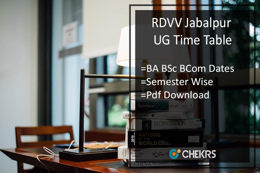 RDVV Time Table - BA BSc BCom 1st-3rd-5th Sem Exam Date