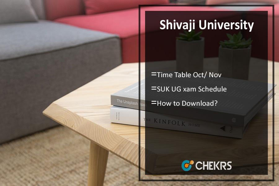 Shivaji University Time Table Oct/ Nov - SUK BA BSC BCOM Exam Schedule