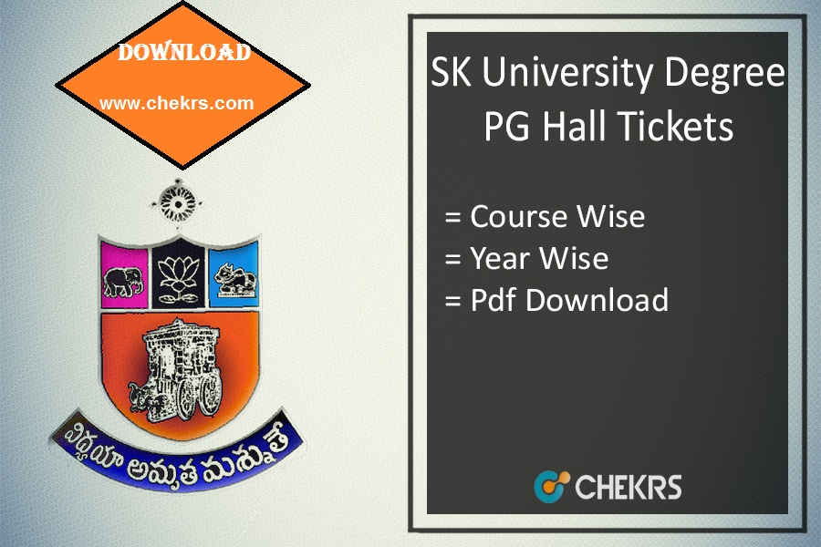 SKU Hall Tickets - Download SK University Degree/ PG Admit Card
