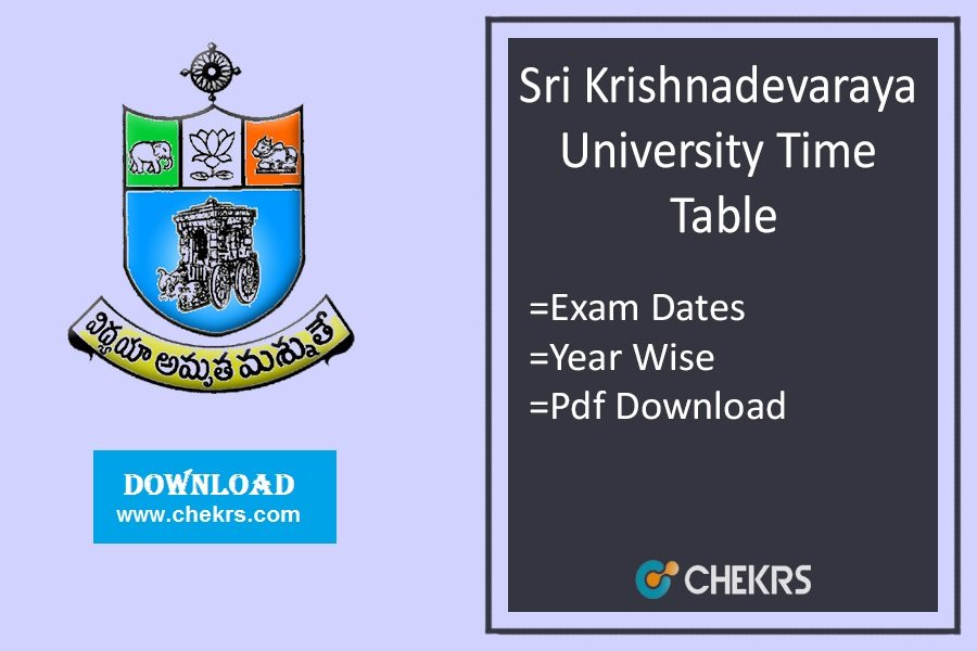SKU Time Table - SK University Degree 1st 2nd 3rd Year Exam
