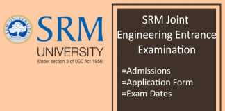 SRMJEEE : Application Form, Exam Date, Syllabus & Pattern