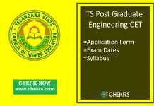 TS PGECET : Application Form, Exam Date, Syllabus & Pattern